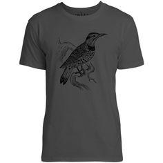 Mintage Lookout Bird Mens Fine Jersey T-Shirt (Vintage Black)