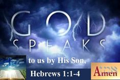 GOD Morning from Trinity, TX Today is Friday 4-9-2021 Day 99 in the 2021Journey Make It A Great Day, Everyday! God Speaks to us by His Son Today's Scripture: Hebrews 1:1-4 (NKJV) God, who at various times and in various ways spoke in time past to the fathers by the prophets, has in these last days spoken to us by His Son, whom He has appointed heir of all things,...