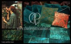 Lady and the roses luxury interior art