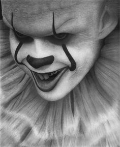 impressive talent incredible gifted people 11 Some people are way too talented Photos) Horror Drawing, Horror Art, Clown Horror, Clown Pics, Harley Quinn Drawing, Dark Art Drawings, Joker Drawings, Pencil Drawings, Clown Tattoo