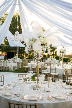 Wedding reception inspiration. Wedding gatsby centrepiece