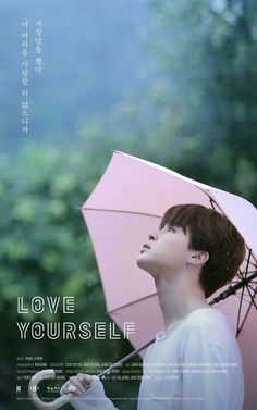 """BTS' Jimin is up next with his """"Love Yourself"""" poster. In the poster, Jimin looks up at the sky as he holds up a pink umbrella. Bts Jimin, Bts Bangtan Boy, Bts Boys, Sung Hyun, Sung Lee, K Pop, Jung So Min, Namjoon, Taehyung"""
