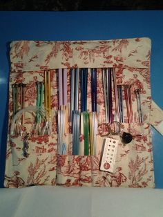 Knitting needle crochet hook storage case by TheToteandCarry, $22.50
