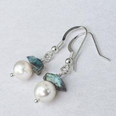Piedra gris azul pendientes joyas de Pastel por BlueRoomBijoux