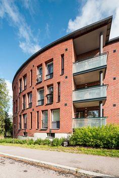 Otakaari opiskelija-asuntoja Otaniemeen Student Apartment, Student House, Alvar Aalto, Surface Area, Brick, Multi Story Building, Yard, Exterior, Houses