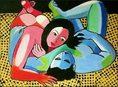 Acrylbild 'Das liegende Paar' - Angelika Rump