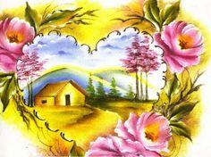 Pintura em Tecido Passo a Passo Com Fotos: Pintura em tecido Paisagens