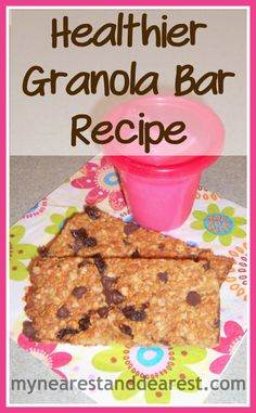 Healthy homemade granola bar recipe. Great snack for mom and kiddo and the perfect recipe for a toddler to help make.