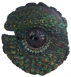 Kolibri, oil on wood
