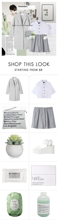 """""""No matter where I am, me without you is just a half."""" by e-laysian ❤ liked on Polyvore featuring Le Ciel Bleu, rag & bone, Stila, NARS Cosmetics, Fresh and Davines"""
