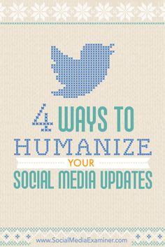 Engagement with your online community is key! Communicating in an authentic and genuine way is important too. Check out this guide to humanizing your social media content from @smexaminer.