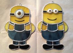 Handmade Stained Glass Minion Suncatcher by QTSG on Etsy