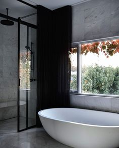 """STUDIO BLACK INTERIORS on Instagram: """"Restraint and considered details adding an enduring timelessness to this bathroom for years to come.   Somers Avenue  Architecture and…"""" Bathroom Design Inspiration, Bathroom Interior Design, Light Well, Soft Furnishings, The Locals, Interior Architecture, Building A House, Cool Designs, Deco"""