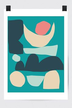 Abstract Shapes Print by Fluorama #fluorama#fluoramaposters#posters#prints#art#wallart#design#interiordesign#illustration