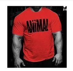Brand Clothing Mens Animal print tracksuit cotton t shirt Hip Hop Short Sleeve t-shirt Men O-neck streetwear fitness Tee