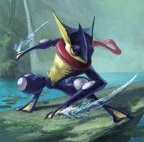 Greninja by Phill-Art