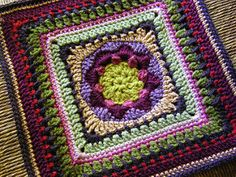 Really pretty block suitable for afghan exchange groups, or just make it your own! Construction involves cluster stitches which are defined clearly. Rated advanced beginner to intermediate.