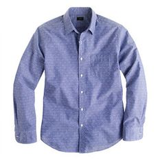 Givted- slim chambray #shirt in blue dot