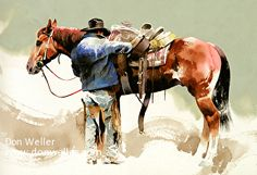 West Desert Fashion Plate by Don Weller Watercolor ~ 12 x 16.5