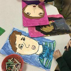 These kiddos are killing it!! #iteachart #portraits #kindergarten