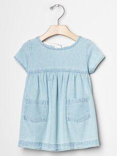 Denim pocket dress Product Image