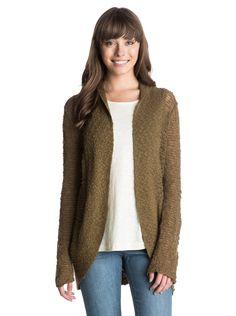 roxy, Sea Of Love Sweater, Military Olive (cqw0)