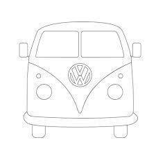 V W Camper Van MDF 18 mm Craft Blanc Forme
