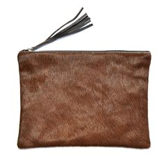Brown Cowhide Pouch - Large at www.LETLIV.co.nz