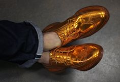 Florsheim by Duckie Brown copper wingtip brogues