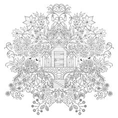 Inspirational coloring pages from Secret Garden, Enchanted Forest and other coloring books for grown-ups.