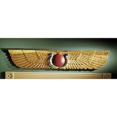 Design Toscano Egyptian Temple Sculptural Wall Pediment