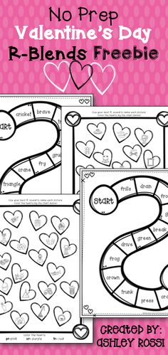 Valentine's Day FREE for articulation in speech therapy. Repinned by SOS Inc. Resources pinterest.com/sostherapy/.