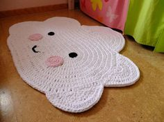 "Nursery carpet ""cloud"" / cloud carpet / crochet rug / crochet / carpet / cloud / cloud Kinderzimmerteppich Wolke / Wolkenteppich / by TaTihaekelt on Etsy Crochet Mat, Crochet Carpet, Crochet Motifs, Crochet Gifts, Crochet For Kids, Crochet Patterns, Bandeau Crochet, Diy Tapis, Crochet Doilies"