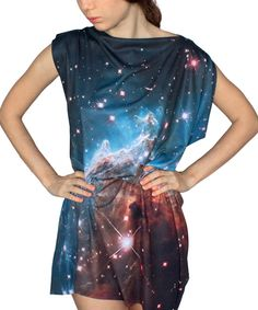 Loving this Shadowplaynyc Blue Horsehead Nebula Convertible Boatneck Dress on #zulily! #zulilyfinds
