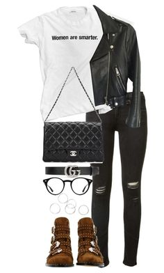 """""""Untitled #4144"""" by theeuropeancloset on Polyvore featuring rag & bone, Givenchy, Acne Studios, Chanel, Gucci and Ray-Ban"""