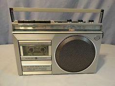 GE Vintage Mini Boombox Am FM Cassette Veryclean Working 1980's Radio   eBay
