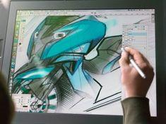 BMW Concept C - Sketch on the Cintiq