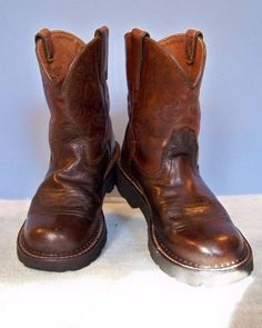 Ariat Brown Fatbaby Rebel Western Roper Boots Size 6.5 US 36.5 EU Style 10001183 #Ariat #Western