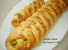 The chicken bread is one of my favourite braided and stuffed breads. Below are the step by step instructions with picson how to make the recipe.