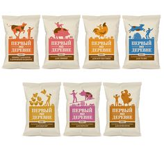 First In The Village on Packaging of the World - Creative Package Design Gallery Chip Packaging, Packaging Snack, Food Packaging Design, Packaging Design Inspiration, Brand Packaging, Popcorn Packaging, Chips, Branding, Cookies Et Biscuits
