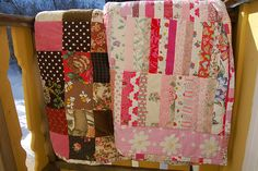 quilts from recycled fabric~