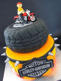 Harley cake - my husband would LOVE this!