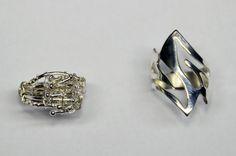 verrassende ringen gemaakt in een workshop  bij edelsmid Marja Schilt. www.marjaschilt.nl