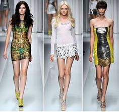 SS11 Versace Runway. I especially love the patter of the dress on the left!