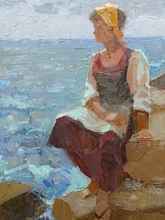 "Mike Parsons (SA born 1941) Oil, ""Maria"""