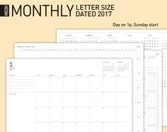 Calendar Printable  Desk Calendar Dated Planner Inserts