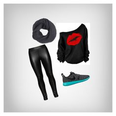 """""""black edition , go for a walk"""" by harisberba ❤ liked on Polyvore featuring NIKE, Studio and Frenchi"""