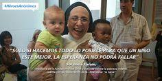 Infografía sobre Sor Lucía Caram, impulsora de la Fundación Rosa Oriol y activista contra la pobreza infantil. #HéroesAnónimos