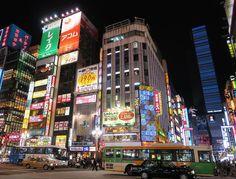 "Shinjuku at night. Shinjuku literally means new lodgings"". In 1698 Naitō-Shinjuku had developed as a new (shin) lodgings (shuku or juku) on the Kōshū Kaidō one of the major highways of that time. Naitō was the family name of a powerful feudal load whose mansion stood in the area; his land is now a public park the Shinjuku Gyoen. #japan #travel #shinjuku #night"