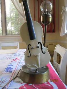 Vintage Viola Cello  Table Lamp / Musical Instrument by lipmeister, $65.00